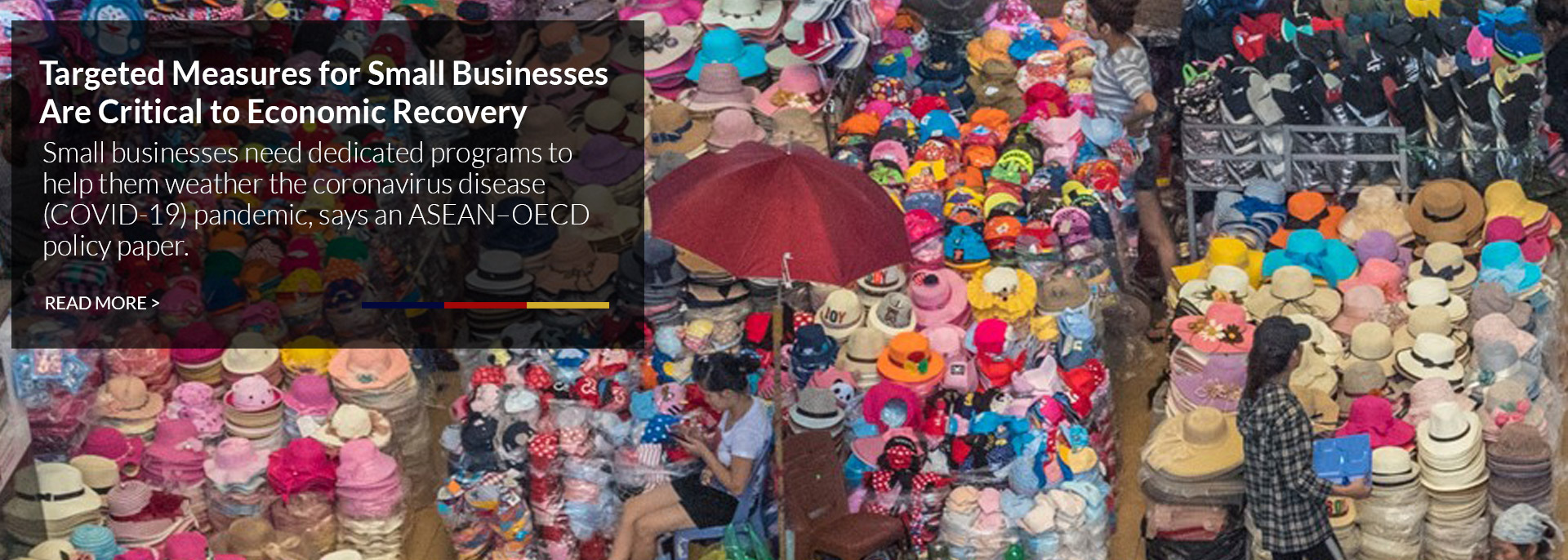 Bazaar stalls selling goods